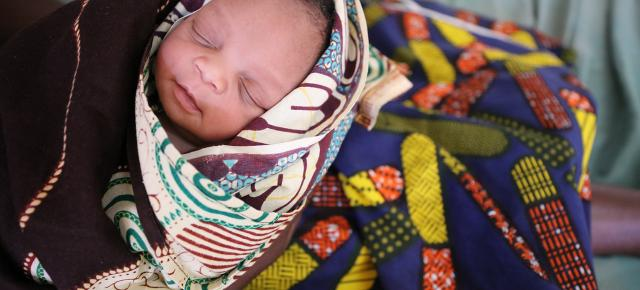 A newborn at the Health Center in Manhica, in Manhica Village, Mozambique