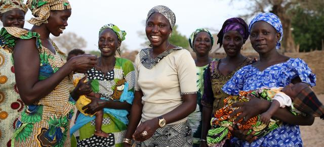A portrait of mothers in their community in Ndienne, Senegal